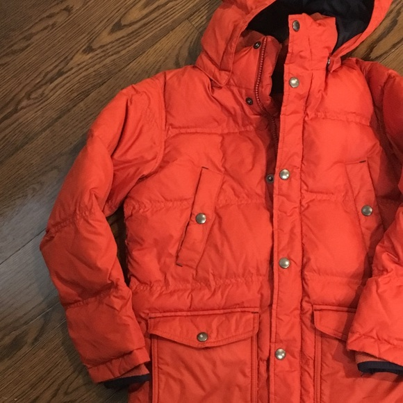 8e63b4aa1 Lands' End Jackets & Coats | Lands End Kids Orange 80 Down Parka ...